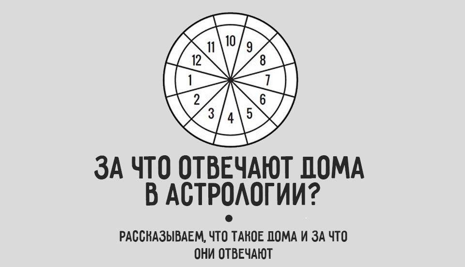 За что отвечают дома в астрологии? Полное описание домов в гороскопе.
